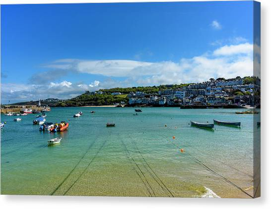 Harbour To Porthminster St Ives Cornwall Canvas Print