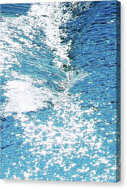 Hard Water Abstract Canvas Print