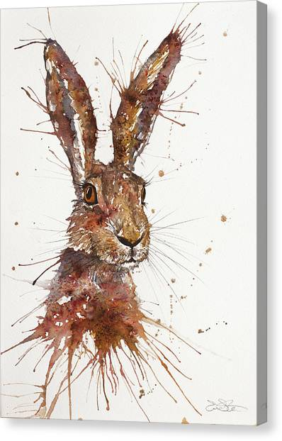 Canvas Print - Hare Portrait by John Silver