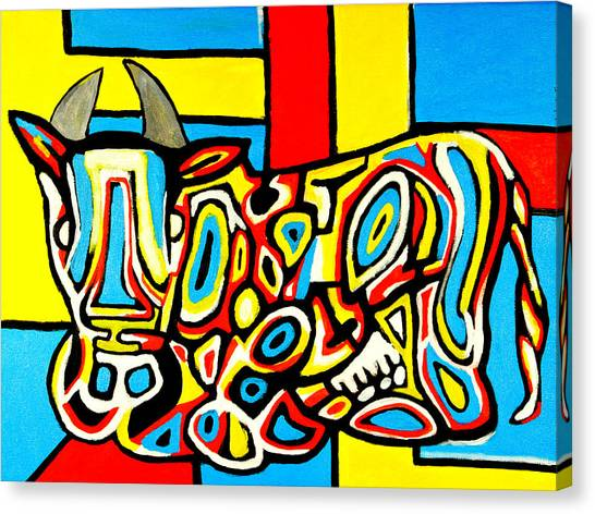 Haring's Cow Canvas Print
