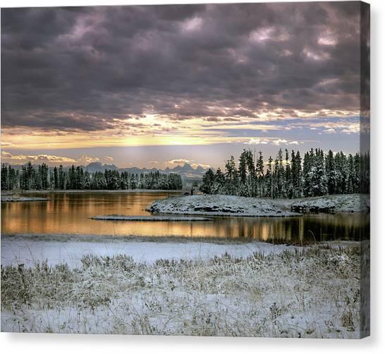 Harriman Winter Canvas Print by Leland D Howard