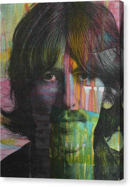 George Harrison Canvas Print - Harrison Dript by Dean Russo Art