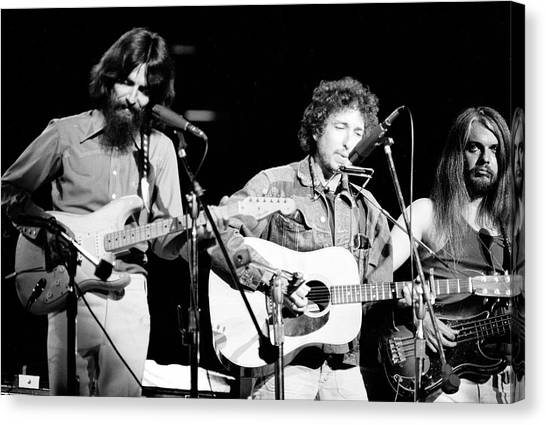 Leon Russell Canvas Print - Harrison, Dylan, & Russell Perform by Bill Ray