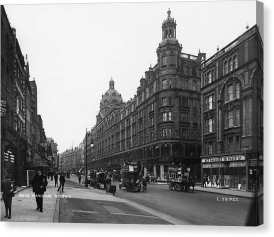 Harrods Department Store Canvas Print by London Stereoscopic Company