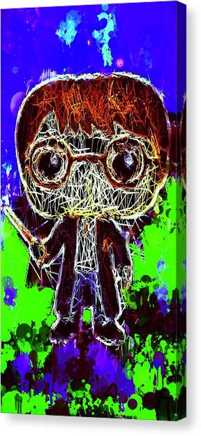 Canvas Print featuring the mixed media Harry Potter Pop by Al Matra