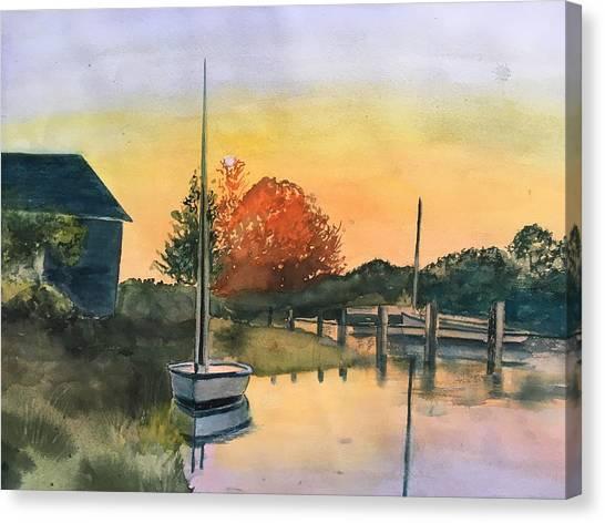 Harthaven Harbor, Mv Canvas Print