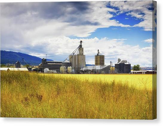 Canvas Print featuring the photograph Harvest Time In Idaho 2 by Tatiana Travelways