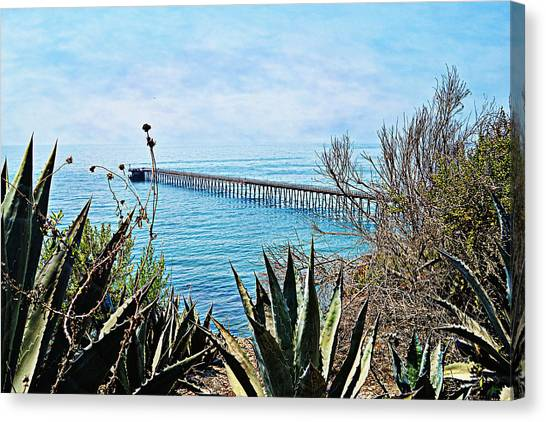Haskell Beach Pier Canvas Print