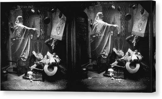 Haunted House Canvas Print by London Stereoscopic Company