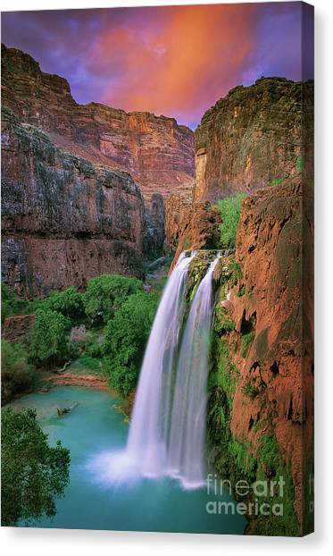 Grand Canyon Canvas Print - Havasu Falls by Inge Johnsson