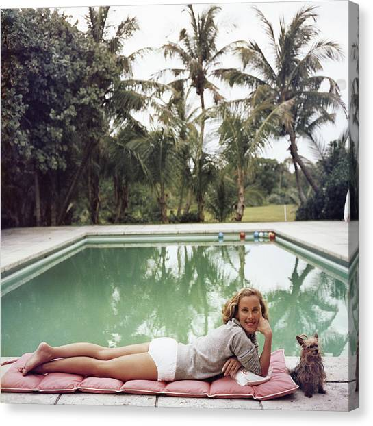 Having A Topping Time Canvas Print by Slim Aarons