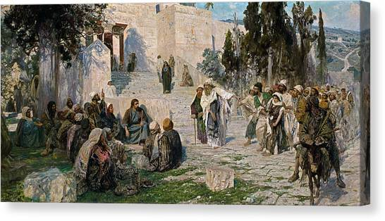 Church Yard Canvas Print - He That Is Without Sin, 1908 by Vasily Polenov