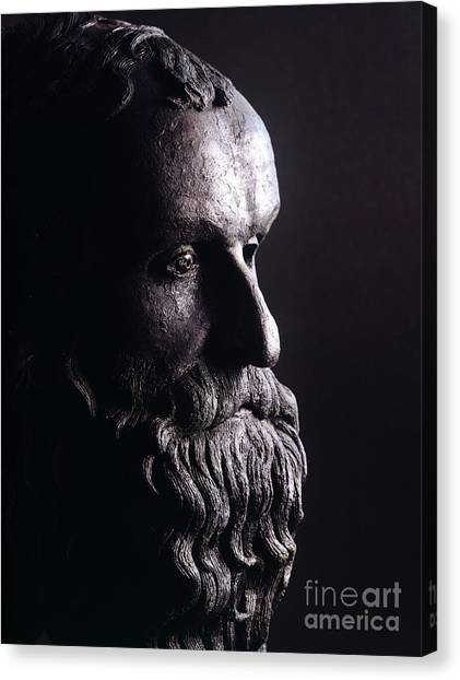 Philosopher Canvas Print - Head Of A Philosopher by Greek School