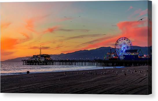 Heading Home At Dusk Canvas Print