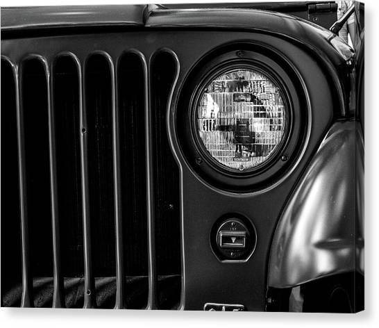 Headlight, Jeep Canvas Print