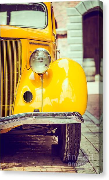 Motorcycle Canvas Print - Headlight Lamp  Vintage Car - Vintage by Food Travel Stockforlife