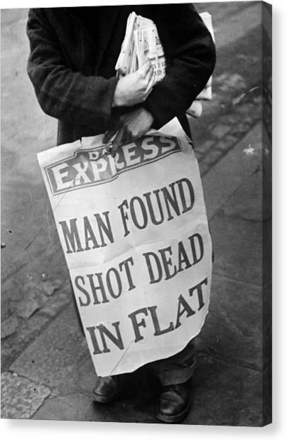 Placard Canvas Print - Headline News by Express