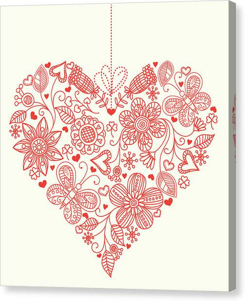 Heart Background Canvas Print by Pworld