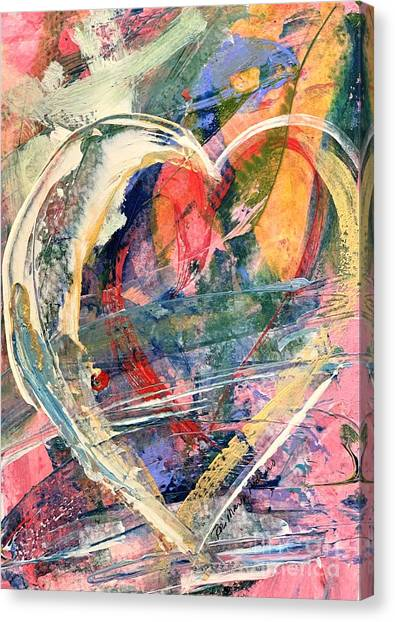 Canvas Print featuring the painting Heart Full Of Love by Robin Maria Pedrero
