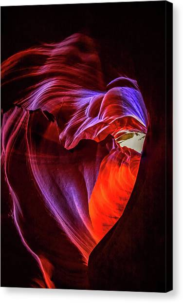 Heart Of Antelope Canyon Canvas Print