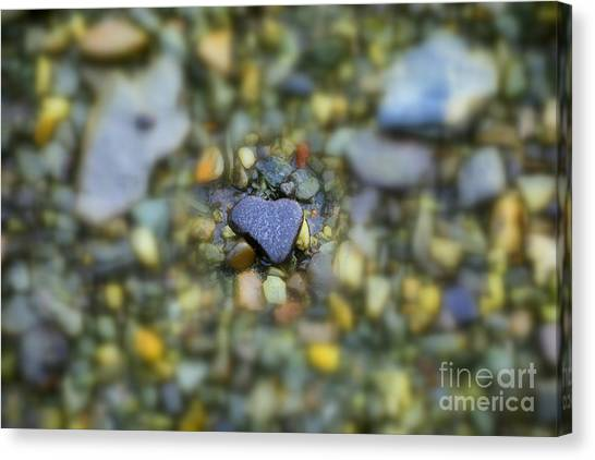 Canvas Print featuring the photograph Heart Of Stone Maine by Patti Whitten