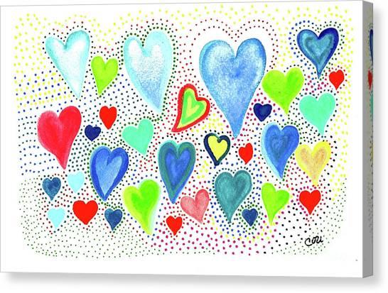 Hearts 1002 Canvas Print