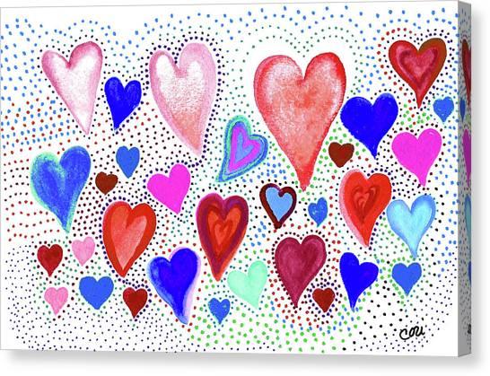 Hearts 1003 Canvas Print