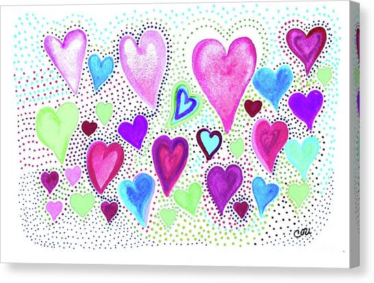 Hearts 1004 Canvas Print