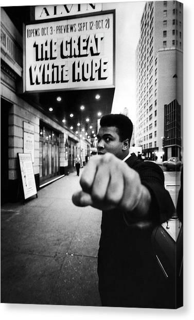 Heavyweight Boxer Ali And, Aka Muhammad Canvas Print