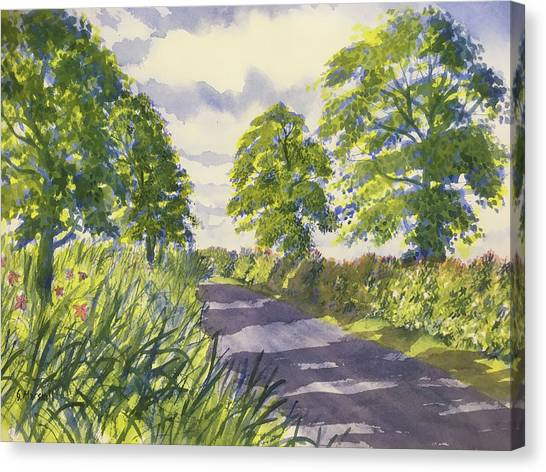 Hedgerows On Rudston Road Canvas Print