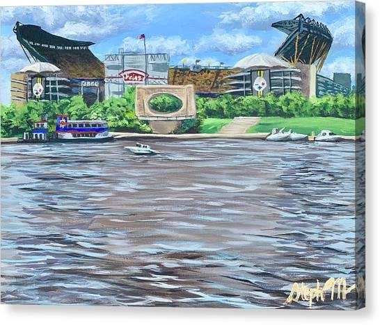 Ben Roethlisberger Canvas Print - Heinz Field by Steph Moraca