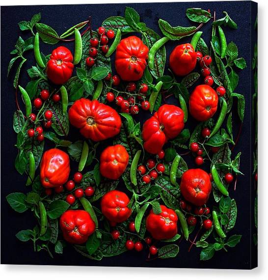 Heirloom Tomatoes And Peas Canvas Print