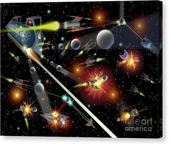 Hell In Space Canvas Print