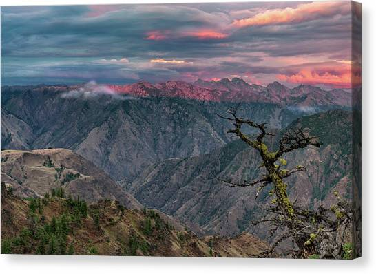 Hells Canyon Sunset 2 Canvas Print by Leland D Howard