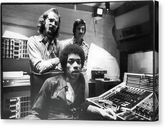 Hendrix, Kramer, & Marron At Electric Canvas Print by Fred W. McDarrah