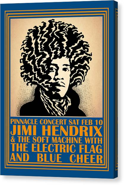 Jimi Hendrix Canvas Print - Hendrix Pinnacle Concert by Mark Rogan