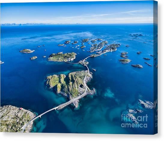 Town Canvas Print - Henningsvaer, Fishing Port On Lofoten by Harvepino