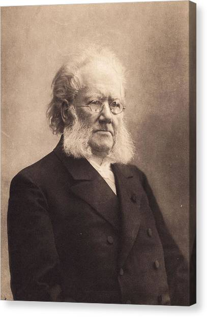 Henrik Ibsen Canvas Print by Hulton Archive