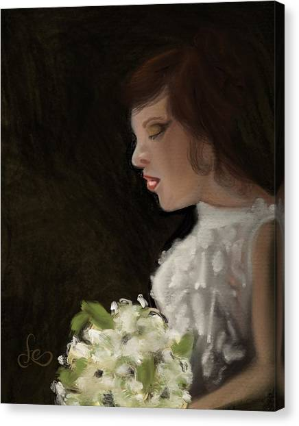 Canvas Print featuring the painting Her Big Day by Fe Jones