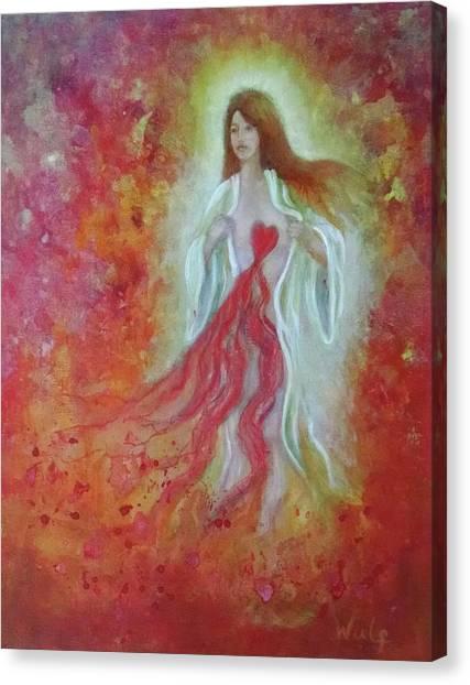 Her Heart Bleeds Canvas Print