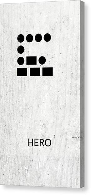 Dad Canvas Print - Hero Morse Code 2- Art By Linda Woods by Linda Woods