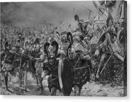 Heroes Of Marathon Canvas Print by Hulton Archive