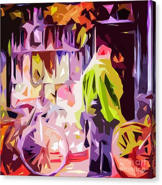 Hertford Flower Shop Canvas Print