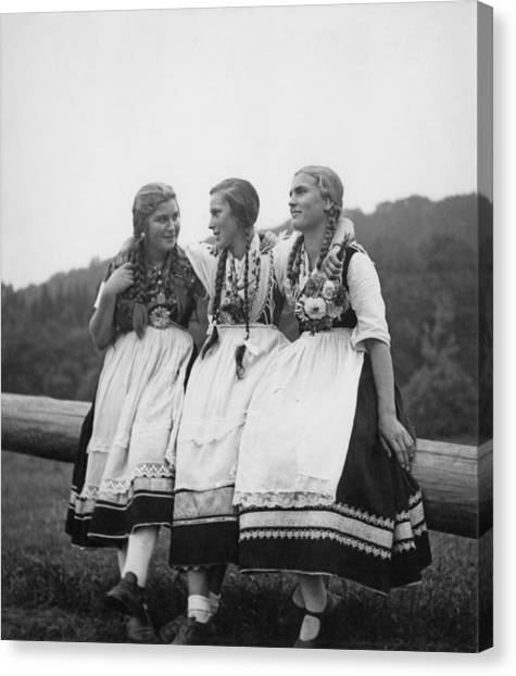Protective Clothing Canvas Print - Hessian Girls by Fpg