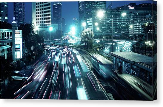 Hi Roundabout Canvas Print by Onny Carr