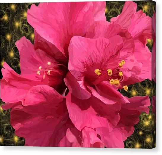 Hibiscus Pollen Canvas Print
