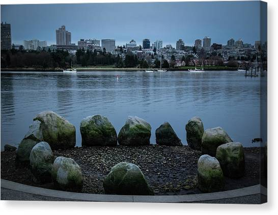 Canvas Print featuring the photograph High And Low Tide by Juan Contreras