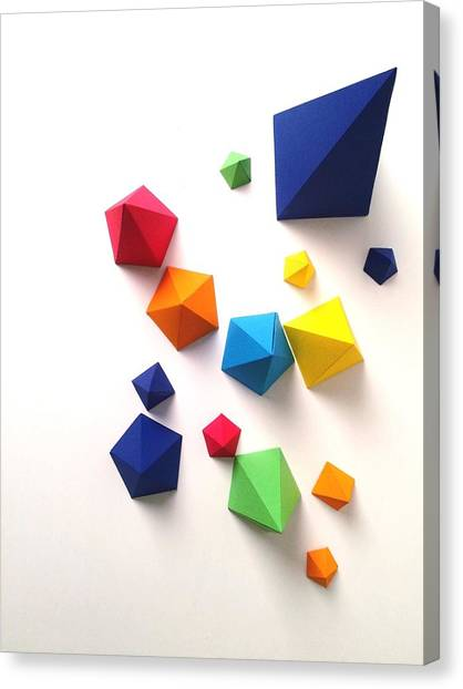 High Angle View Of Multi Colored Paper Canvas Print by Gunther Kleinert / Eyeem