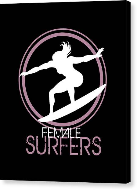 Surfboard Canvas Print - High Impact Illustration For Surfers Women by Daniel Ghioldi