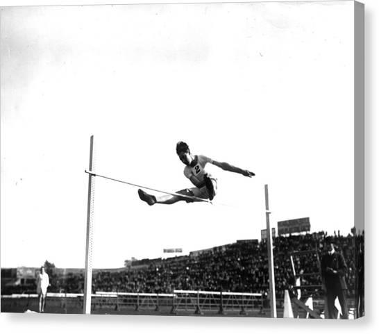Stamford Bridge Canvas Print - High Jumper by Hulton Archive